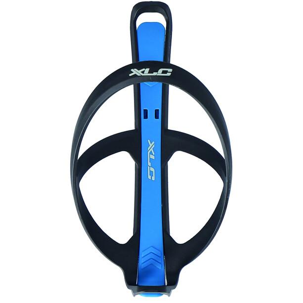 XLC BC-K10 Bottle Cage incl. Tyre Lever, noir/bleu