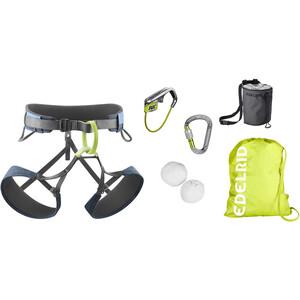 Edelrid Climbing Package Klettergurt grau/grün grau/grün