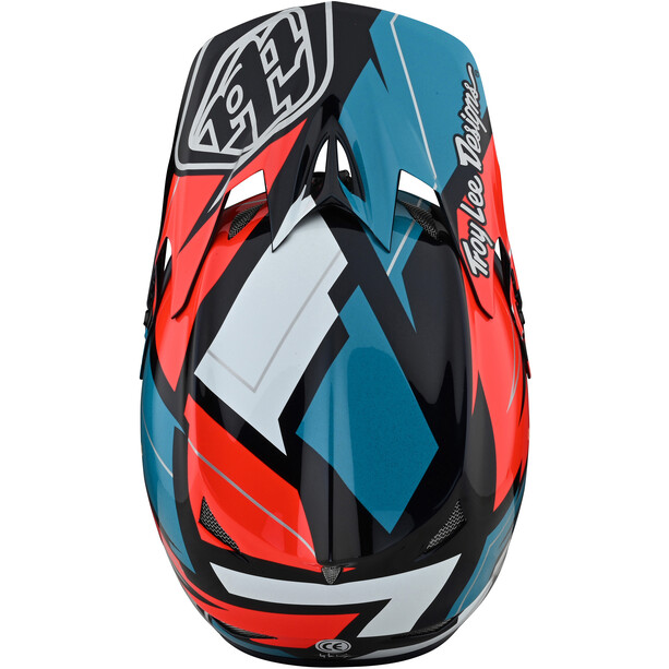Troy Lee Designs D3 Fiberlite Helmet flerfärgad/röd