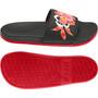 adidas Adilette Comfort Slipper Damen schwarz/rot