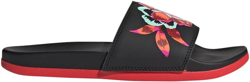 adidas Adilette Comfort Lysbilder Dame core black/core black/vivid red UK 6   EU 39 1/3 2021 Badesko & Sandaler