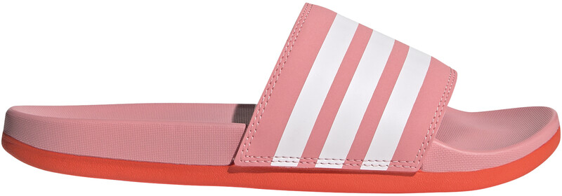 adidas Adilette Comfort Lysbilder Dame super pop/footwear white/solar red UK 8   EU 42 2021 Badesko & Sandaler