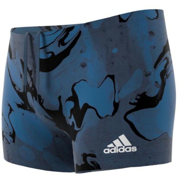adidas Fit Wave Beat Boxer-Badehose Herren blau