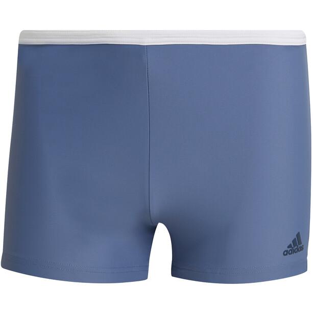 adidas Fit White 3S Boxer-Badehose Herren blau