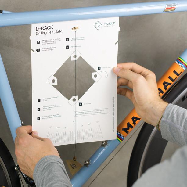 PARAX D-Rack Wandhalterung Aluminium ohne Holzfront schwarz