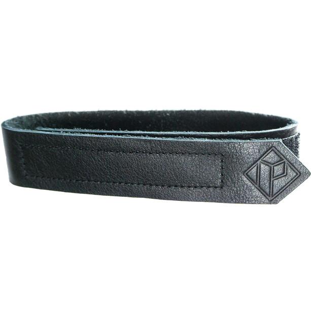 PARAX D-Strap Vorderrad Fixierungsriemen Leder schwarz