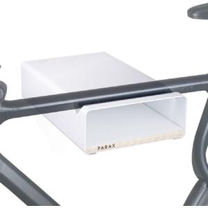 PARAX S-Rack Soporte Pared Aluminio, blanco blanco
