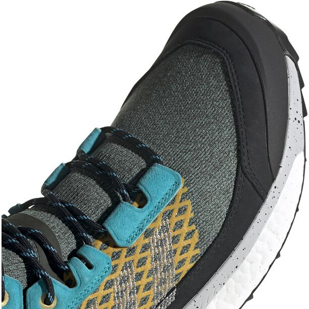adidas TERREX Free Hiker Blue Wanderschuhe Herren grau/schwarz