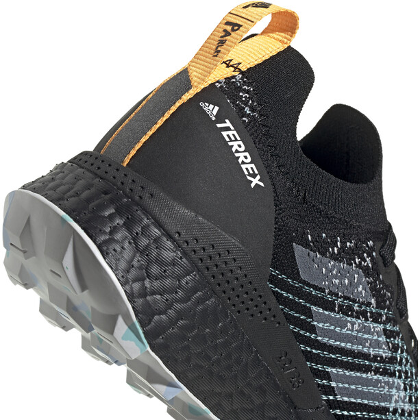 adidas TERREX Two Ultra Parley Low Trail Running Schuhe Damen core black/dash grey/blue spirit