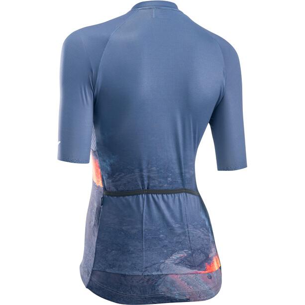 Northwave Fire Short Sleeve Jersey Women, bleu