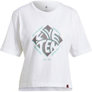 adidas Five Ten Crop T-Shirt Women vit vit