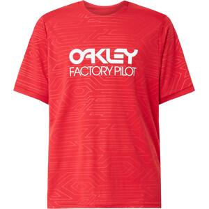 Oakley Pipeline Trail Kurzarm Tee Herren rot rot