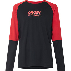 Oakley Switchback Trail Camiseta Manga Larga Hombre, negro negro