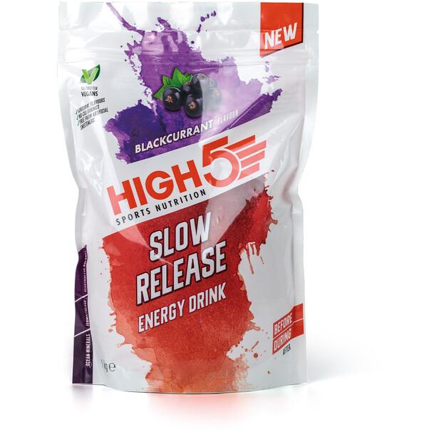 High5 Slow Release Energy Drink Beutel 1000g Schwarze Johannisbeere