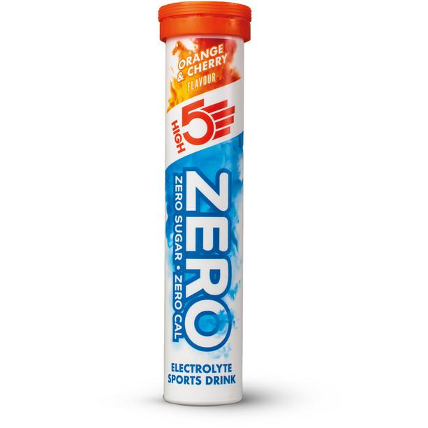 High5 Zero Elektrolyt Sportsdrink Tabs 20 stykker, Orange & Cherry