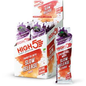 High5 Energie Gel Box med langsom frigivelse af kulhydrater 14 x 62 g, Black Currant