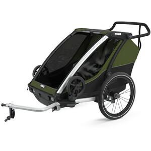 Thule Chariot Cab 2 Bike Trailer grön grön