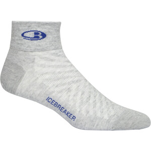 Icebreaker Run+ Ultralight Mini Socks Men blizzard heather blizzard heather