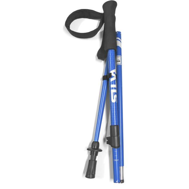Silva Trekking 3Z Foldable Pole with Twist Lock, blauw