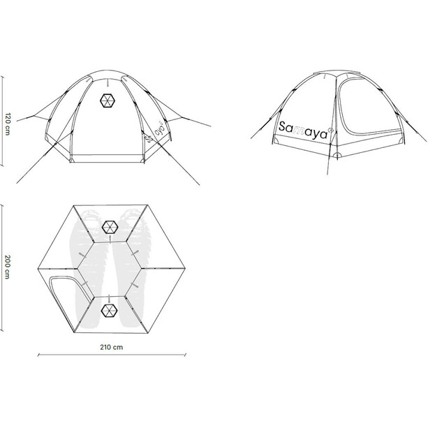 Samaya Samaya2.5 Tent, sininen