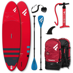 """Fanatic Fly Air/Pure SUP Package 10'4"""" Inflatable SUP with Paddle and Pump 2021, rouge rouge"""