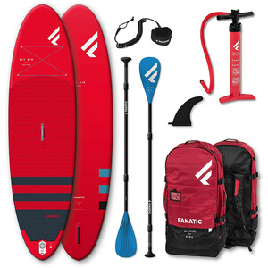 """Fanatic Fly Air/Pure SUP Package 9'8"""" Inflatable SUP with Paddle and Pump 2021"""