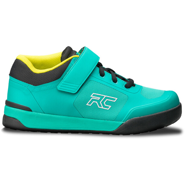 Ride Concepts Traverse Clipless Shoes Women, teal/lime