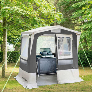 Brunner Gusto III NG Cooking Tent 200x200cm, gris/blanco gris/blanco