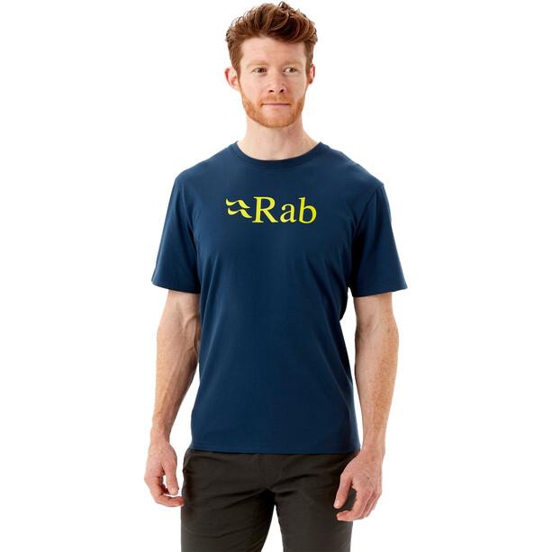 Rab Stance SS Shirt Logo Print Men Blå