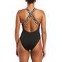 Nike Swim Logo Tape Crossback Badeanzug Damen black