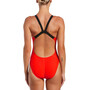 Nike Swim Logo Tape Fastback One Piece Badeanzug Damen bright crimson