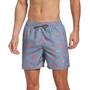 "Nike Swim Logofetti 5"" Volley Shorts Men, harmaa/oranssi"