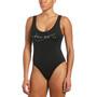 Nike Swim Multi Logo U-Back One Piece Swimsuit Women, noir