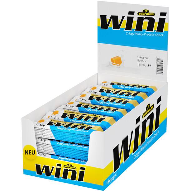 Peeroton Wini Crispy Whey Protein Snack Riegelbox 18 x 50g Karamell