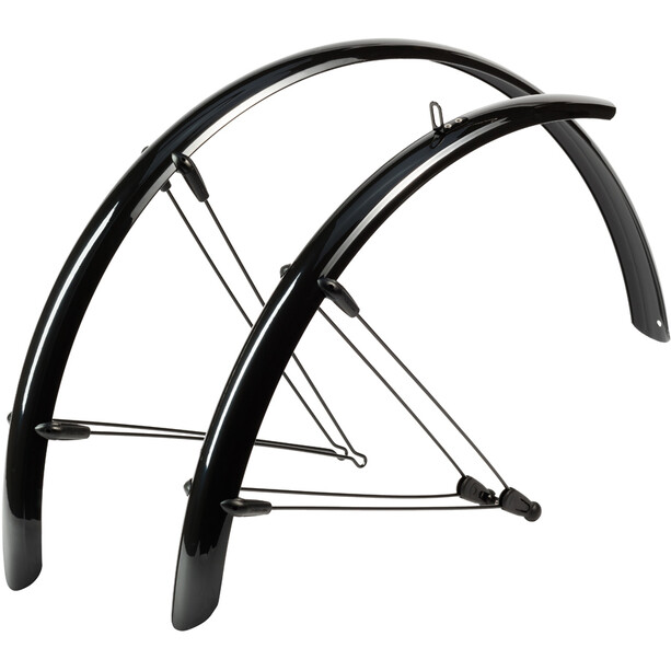 "Hebie Rainline Mudguard Set 26"" 68mm with Braces, black glossy"