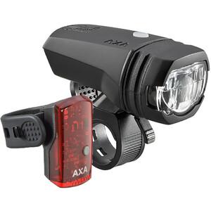 Axa Greenline 50 Verlichtingsset, zwart zwart