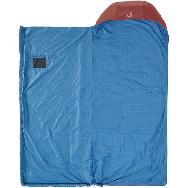 Nordisk Puk +10 Blanket Schlafsack L sun-dried tomato/majolica blue/syrah