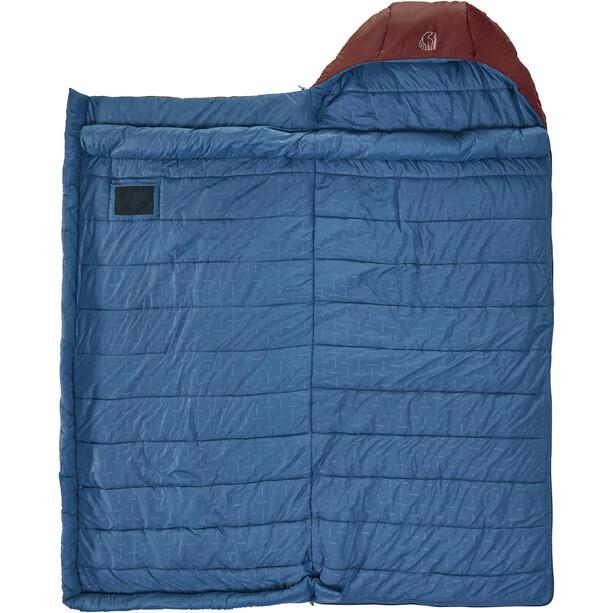 Nordisk Puk -2 Blanket Schlafsack L sun-dried tomato/majolica blue/syrah