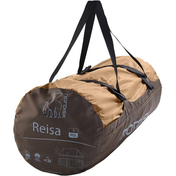 Nordisk Reisa 4 PU Zelt cashew/brown