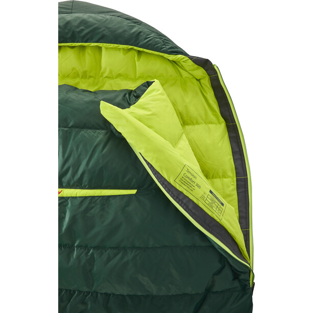 Y by Nordisk Tension Comfort 300 Schlafsack XL scarab/lime
