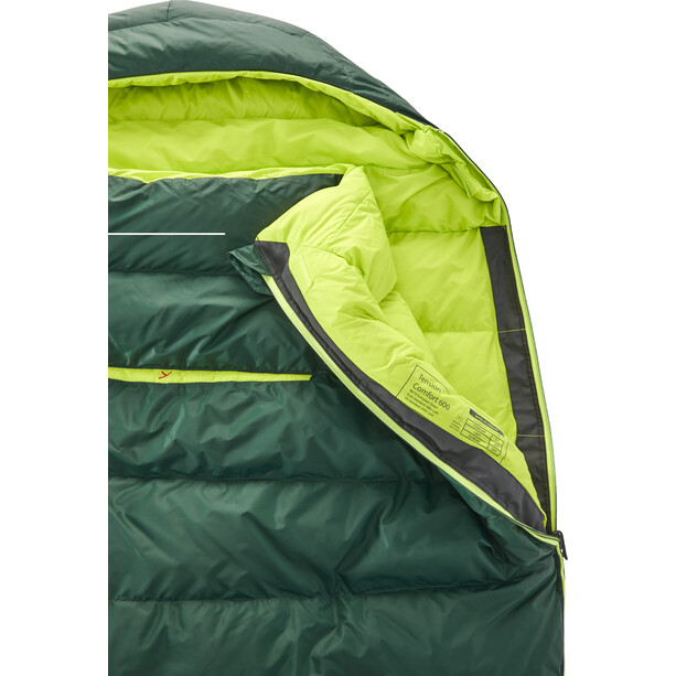 Y by Nordisk Tension Comfort 600 Sleeping Bag M, scarab/lime