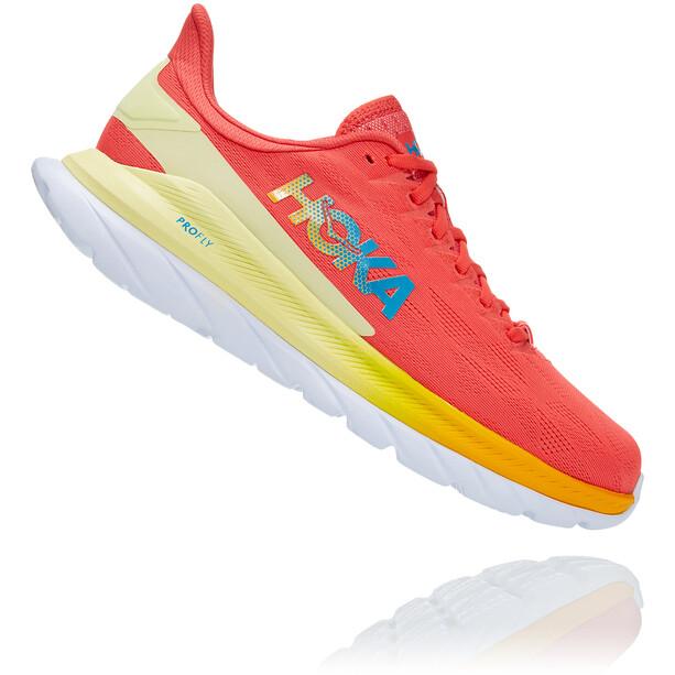 Hoka One One Mach 4 Shoes Women, rouge/jaune