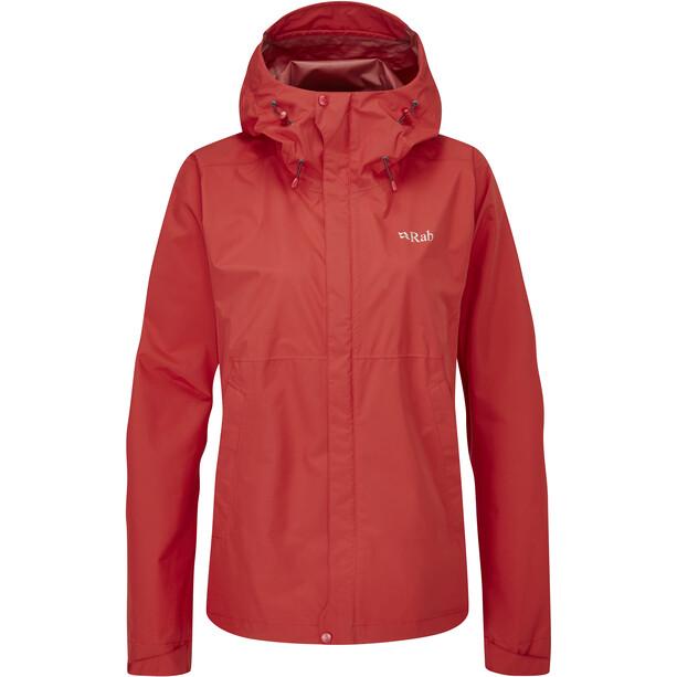 Rab Downpour Eco Jacket Women, ascent red