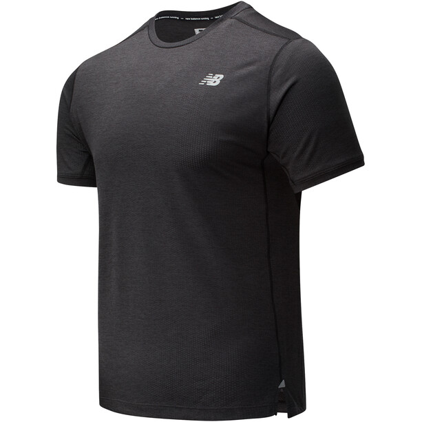 New Balance Impact Run Short Sleeve Shirt Men black heather