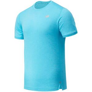 New Balance Impact Run Short Sleeve Shirt Men blå blå
