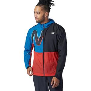New Balance Printed Impact Run Light Pack Jacket Men svart/blå svart/blå