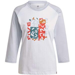 adidas Five Ten Graphics Long Sleeve T-Shirt Women, biały biały