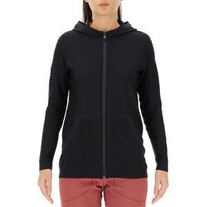 UYN City Full-Zip Laufjacke mit Kapuze Damen schwarz schwarz