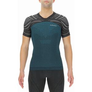 UYN Coolboost Shortsleeve Running Shirt Men, turquoise/noir turquoise/noir