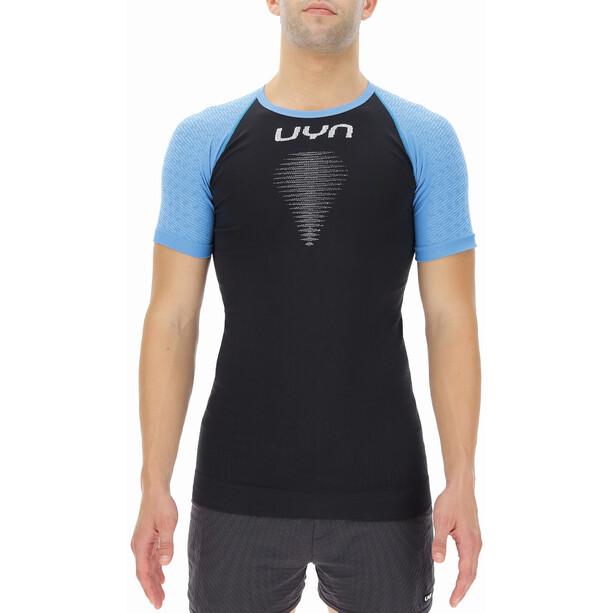 UYN Marathon Kurzarm Shirt Herren blackboard/swedish blue/white